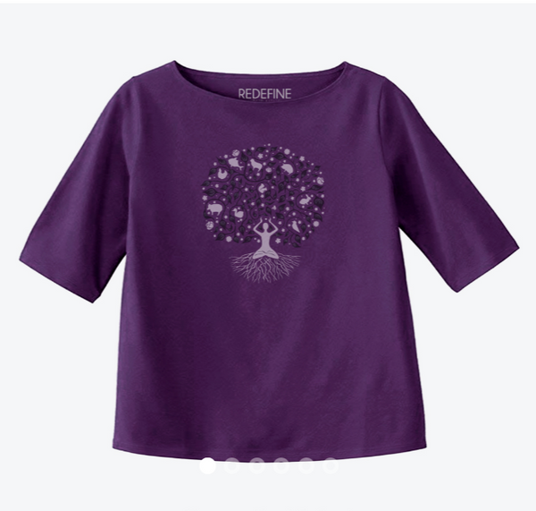 Tree of Compassion 3/4 Sleeve Top