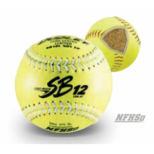 SB12 NFHS Leather White Stitching Softball