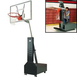 Bison Club Court Portable Basketball System - Acrylic Backboard