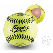 Thunder Heat NSA Leather Softball