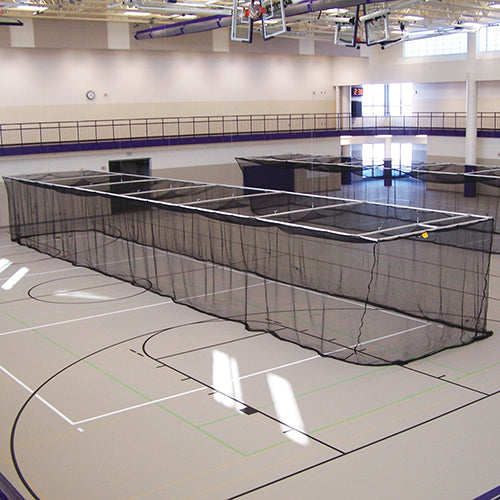 Ceiling Suspended Retractable Batting Cage