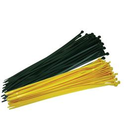"Fence Crown 19"" Zip Ties-Yellow 100 per pack"