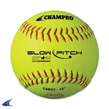 "Champro ASA 12"" SLOW PITCH - DURAHIDE COVER .44 CORE"
