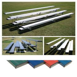 4 Row 7.5' Low Rise Bleacher - Colored