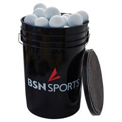 BSN SPORTS Bucket with 60 Lacrosse Balls