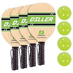 Diller 4 Player Paddle & Ball Pack