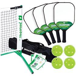 3.0 Tournament Net & Frame Set with Champion LT Composite Paddles
