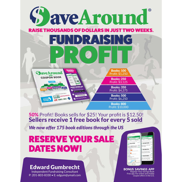 Save-Around Fundraising Coupon Books
