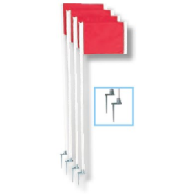 Steel Peg Soccer Flags