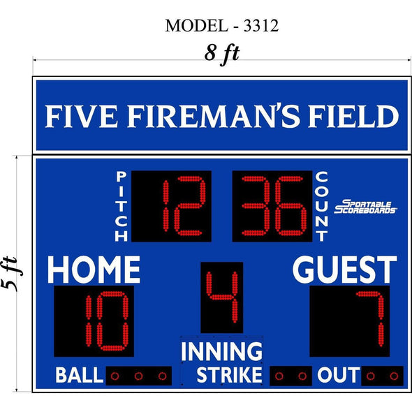 Scoreboard with Pitch Count