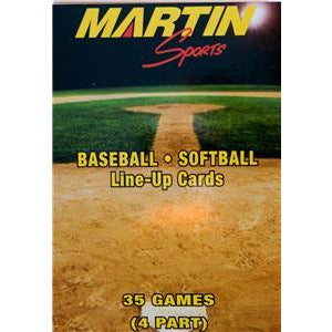 Baseball/Softball Line up cards