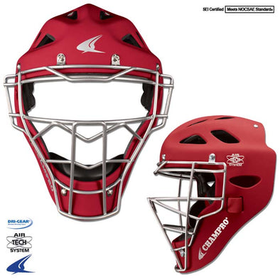 RUBBERIZED MATTE FINISH PRO-PLUS CATCHER'S HOCKEY STYLE HEADGEAR
