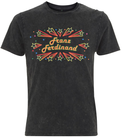 Mens Franz Ferdinand 'Barrowland' Ltd Edition Acid Wash T-Shirt (Black)