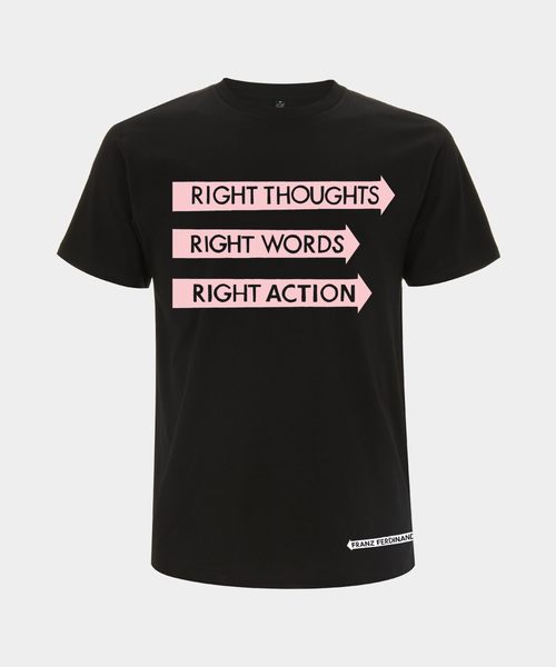 Right Thoughts T-shirt (Back Print)
