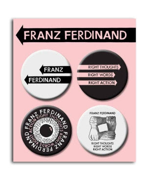Franz Ferdinand 4 Badge Set