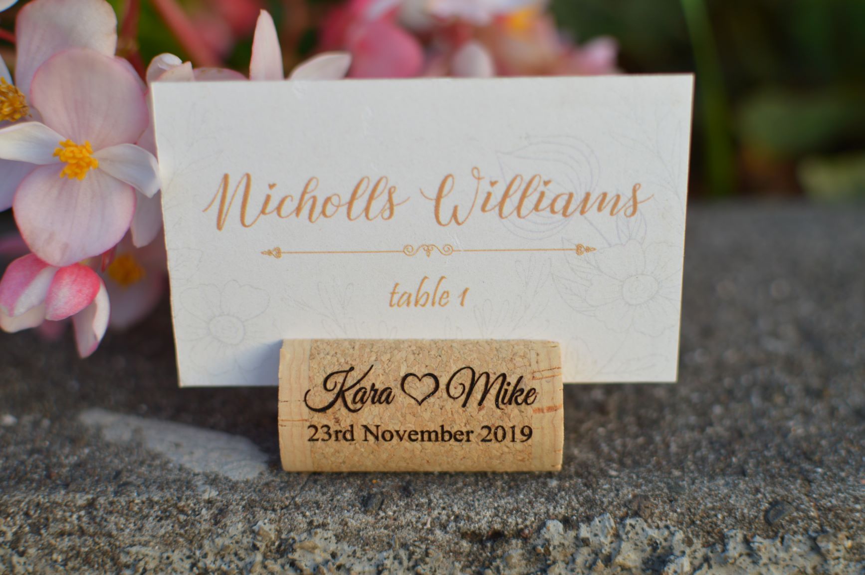 Wine Cork Place Card Holders - Photos