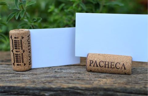 wine cork place card holder diy - allincork
