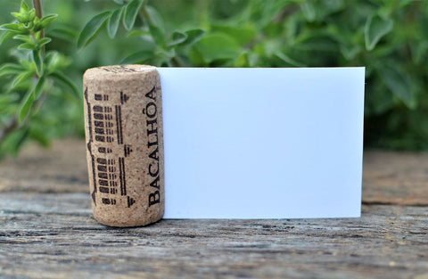 diy wine cork place card holder with used wine corks - allincork