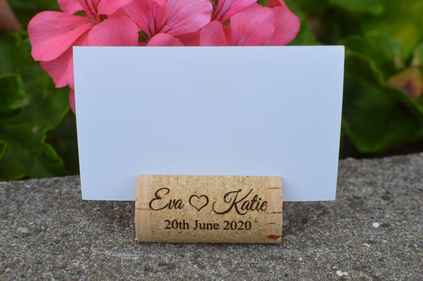 wedding cork place card holders - allincork