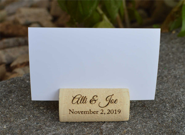 wine cork place card holders - allincork