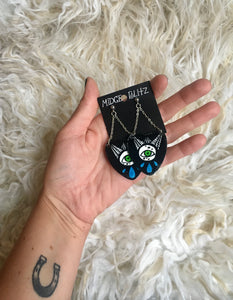 All Seeing Spiderweb Planchette Dangle Earrings