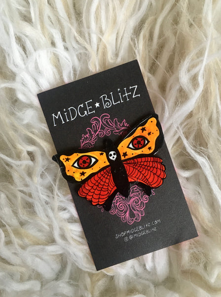Autumn Moth Brooch