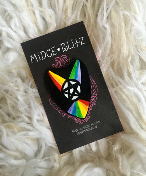 Rainbow Witch Planchette Brooch