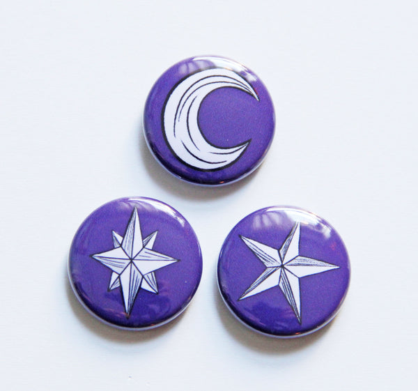 Celestial Button Set in Night