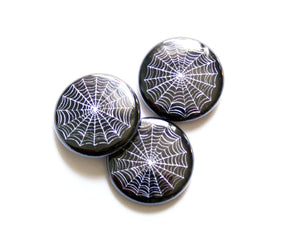 Spiderweb One Inch Button