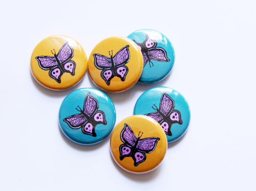 Butterfly One Inch Button