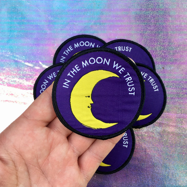 In the Moon We Trust Iron-on Patch