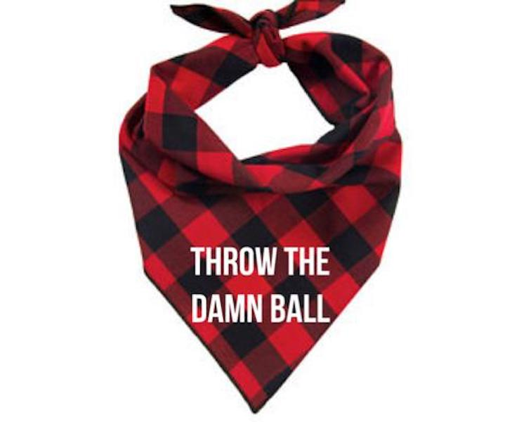 Throw the damn ball bandana