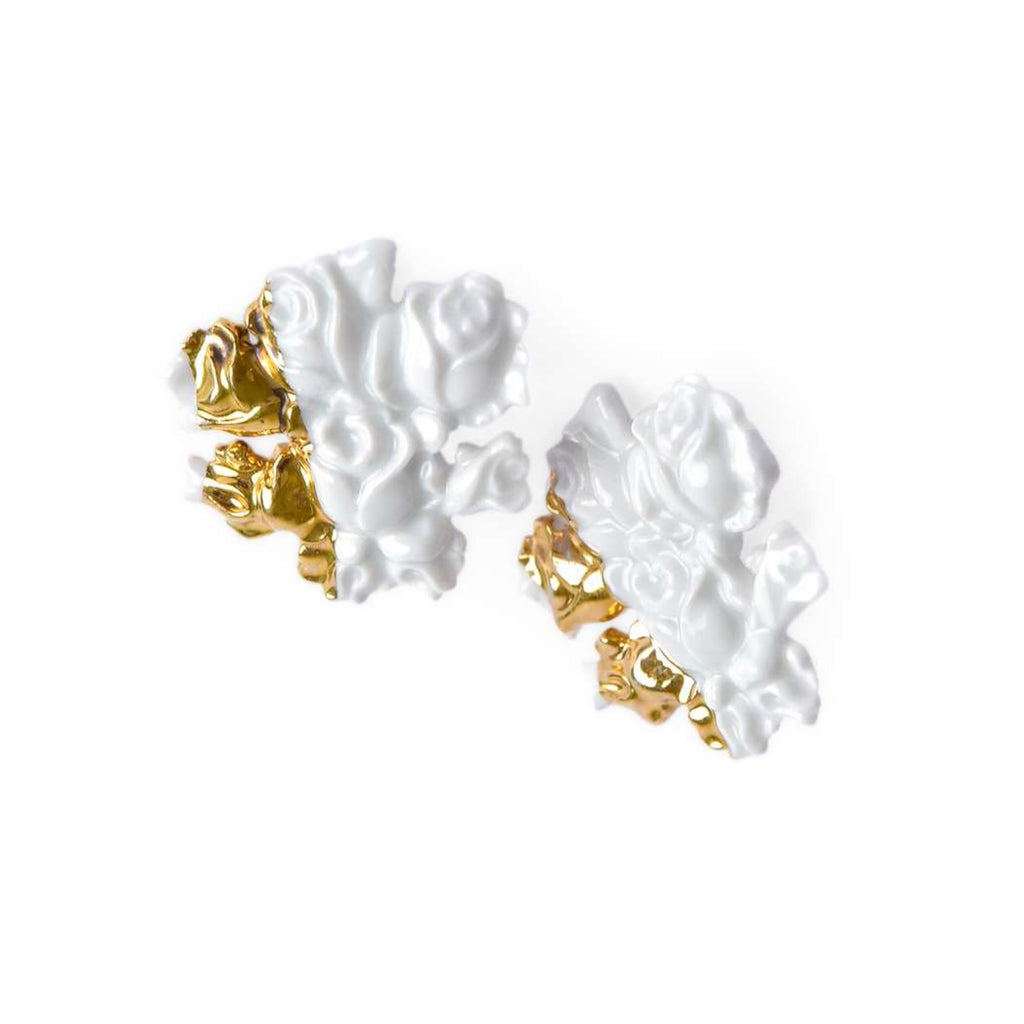 Duo Baroque Roses Earrings