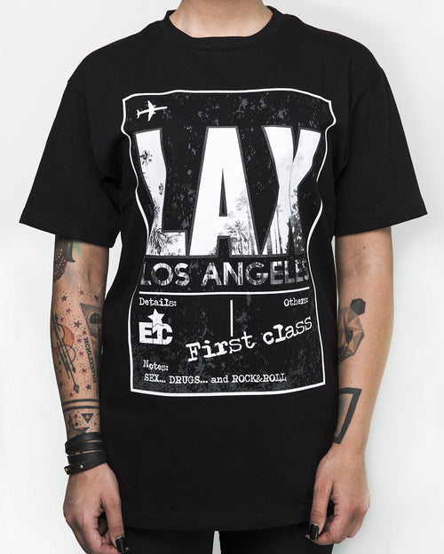 """LAX Black"" T-Shirt"