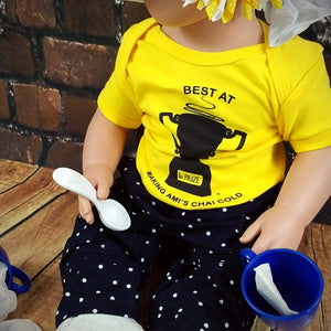Best Reason Ami's Chai Gets Cold™ Trophy - Onesie MuslimChild.ca Muslim baby clothes for ages 3 months to 14 years old. Funny tshirts, funny onesies, sleepers and onesies. Muslim children's appeal, Islamic wear, Muslim parents, Muslim Children.