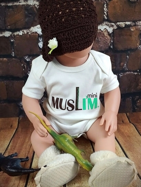 Mini Muslim™ – Onesie MuslimChild.ca Muslim baby clothes for ages 3 months to 14 years old. Funny tshirts, funny onesies, sleepers and onesies. Muslim children's appeal, Islamic wear, Muslim parents, Muslim Children.