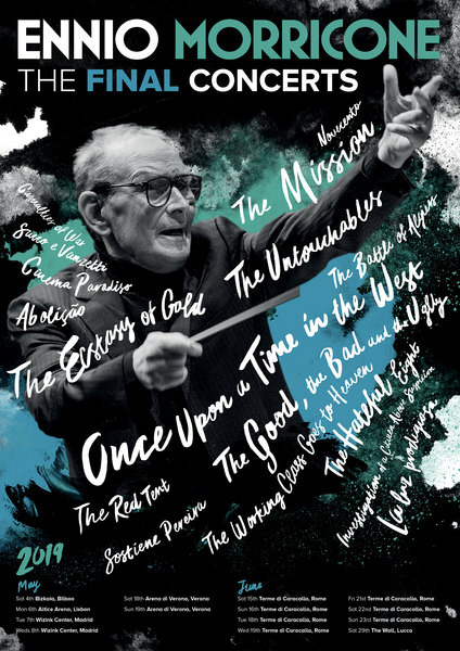 Ennio Morricone - The Final Concerts Poster