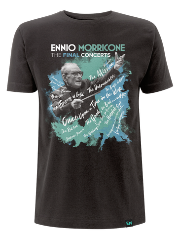 Ennio Morricone ‎– The Final Concerts T-Shirt Black