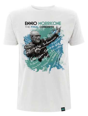 Ennio Morricone ‎– The Final Concerts T-Shirt White