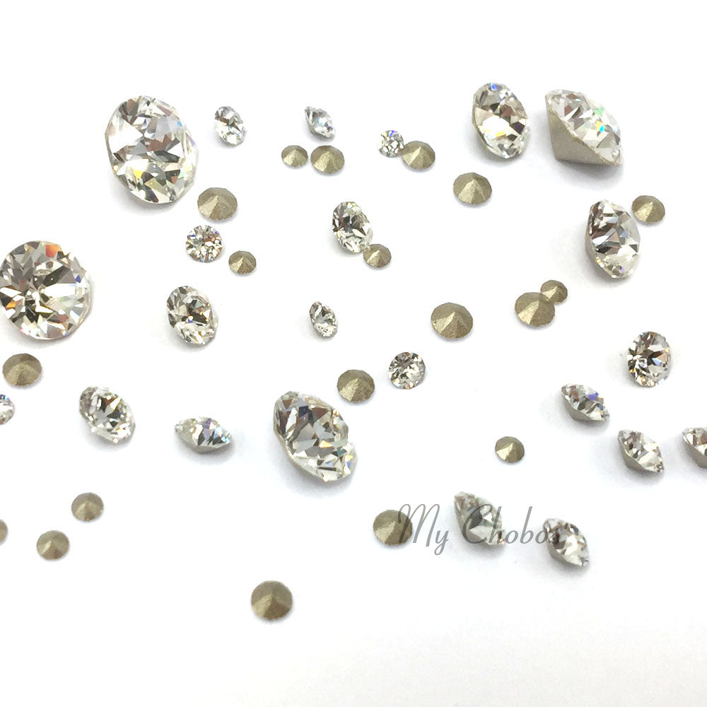 1088 Swarovski Chaton & Round Stones Mix Sizes, Crystal (001)