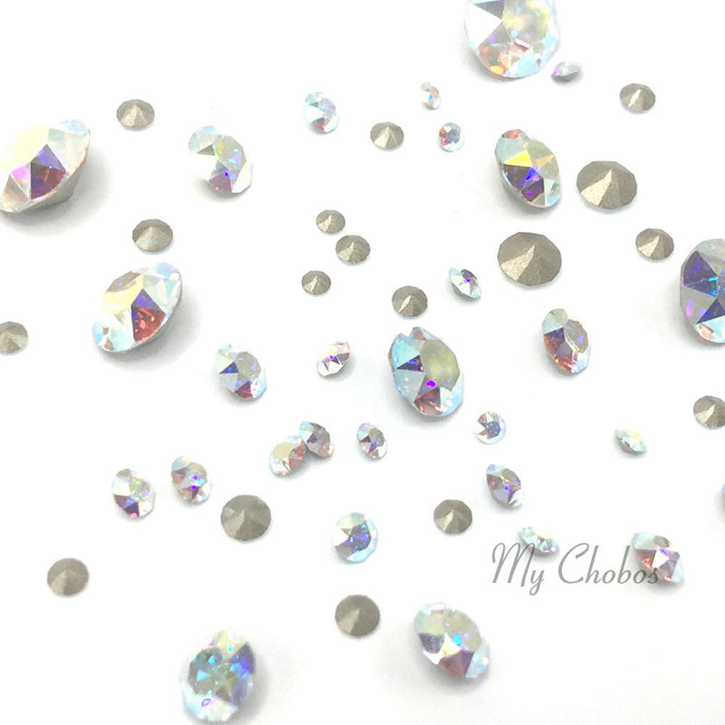 1088 Swarovski Chaton & Round Stones Mix Sizes, Crystal AB (001 AB)
