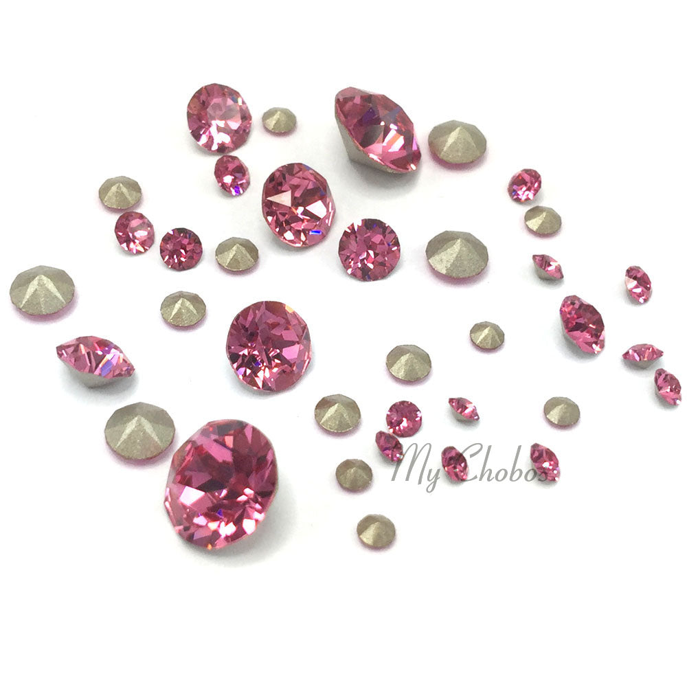 1088 Swarovski Chaton & Round Stones Mix Sizes, Rose (209)