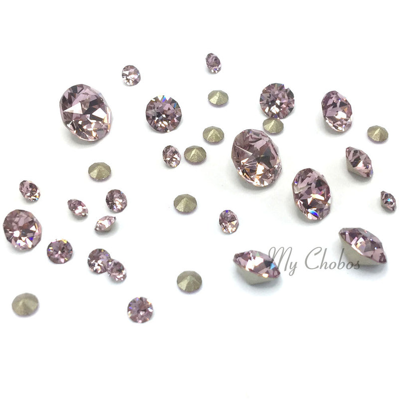 1088 Swarovski Chaton & Round Stones Mix Sizes, Light Amethyst (212)