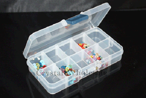 Beads Rhinestone Storage Plastic Box Case with 10 Slots