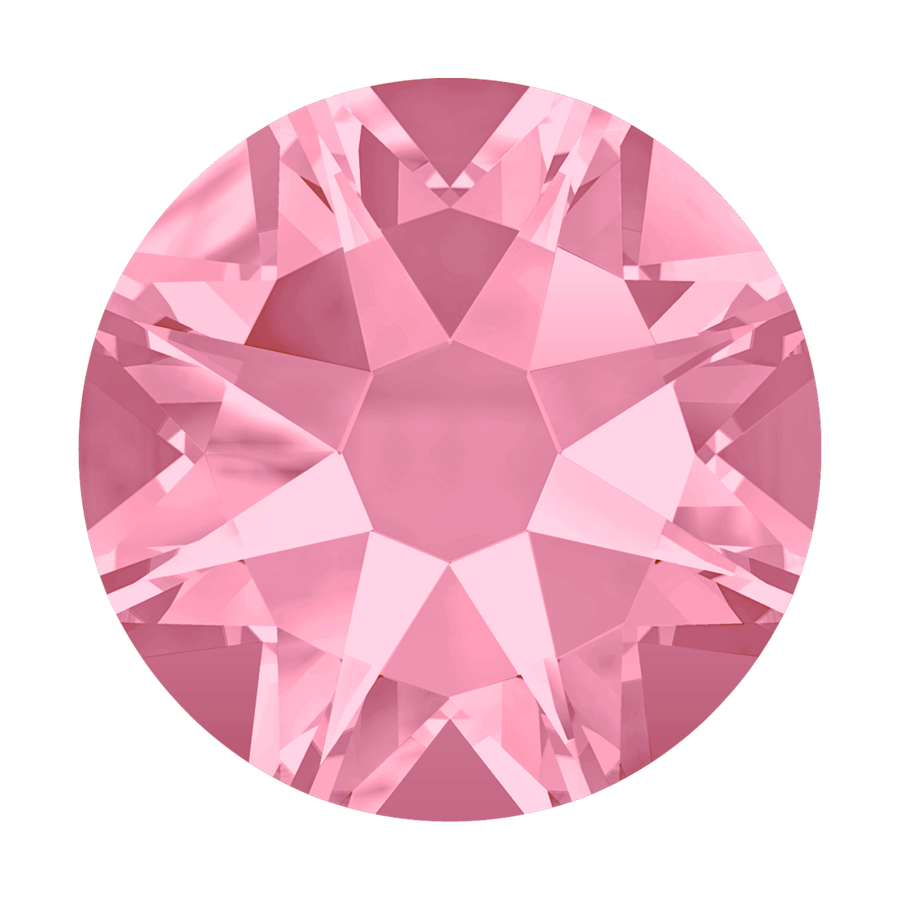 2000, 2038 & 2078 Swarovski Flatback Hotfix, Light Rose (223)