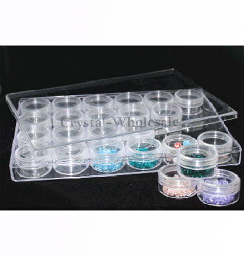 Beads Rhinestones Storage Plastic Case 24 Interlocking
