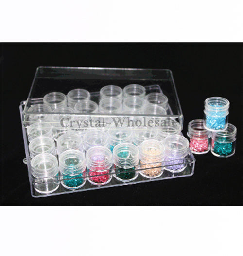 Beads Rhinestones Storage Plastic Case 30 Interlocking