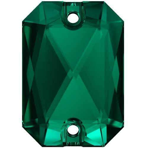 3252 Swarovski Emerald Cut Sew-On Stones