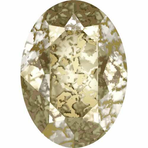 4120 Swarovski Oval Fancy Stones, Crystal Gold Patina  (001 GOLPA)