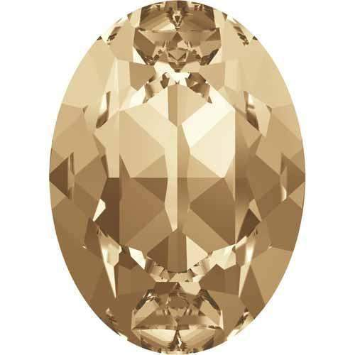 4120 Swarovski Oval Fancy Stones, Crystal Golden Shadow (001 GSHA)